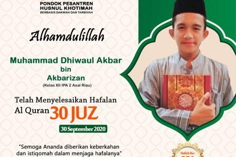 Muhammad Dhiwaul Akbar Bin Akbarizan