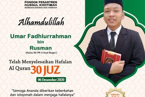 Umar Fadhlurrahman Bin Rusman
