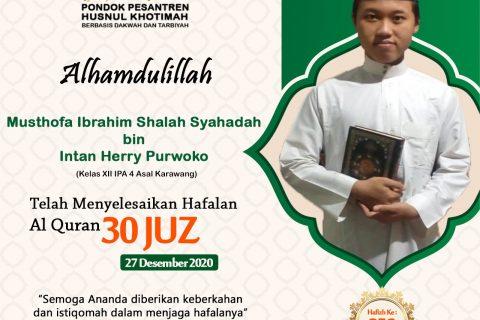 Musthofa Ibrahim Shalah Syahadah Bin Intan Herry Purwoko