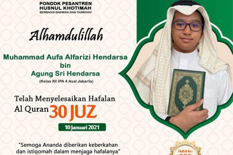 Muhammad Aufa Alfarizi Hendarsa bin Agung Sri Hendarsa