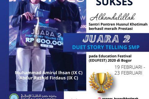 JUARA DUET STORY TELLING EDUFEST
