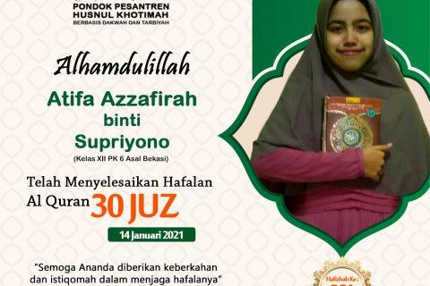 Atifa Azzafirah binti Supriyono