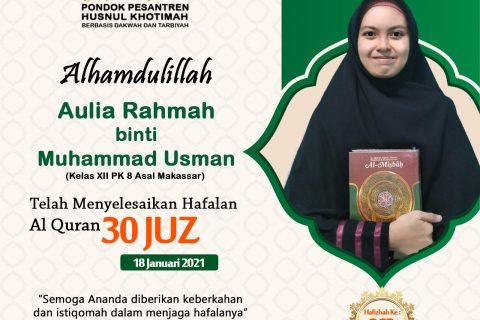 Aulia Rahmah binti Muhammad Usman