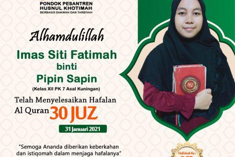 Imas Siti Fatimah binti Pipin Sapin
