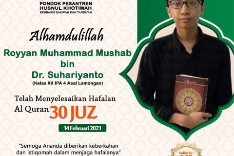 Royyan Muhammad Mushab bin Dr. Suhariyanto