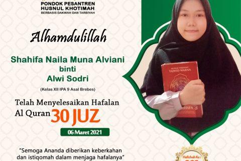 Shahifa Naila Muna Alviani binti Alwi Sodri