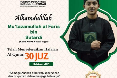 Mu'tazamullah Al Faris bin Sutardi