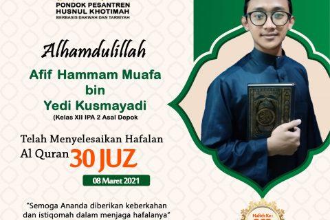 Afif Hammam Muafa bin Yedi Kusmayadi
