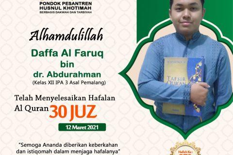 Daffa Al Faruq bin dr. Abdurahman