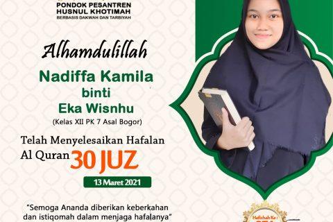 Nadiffa Kamila binti Eka Wisnhu