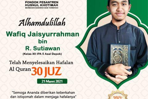 Wafiq Jaisyurrahman bin R. Sutiawan