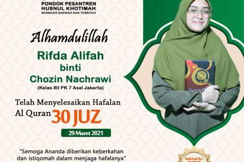 Rifda Alifah binti Chozin Nachrawi