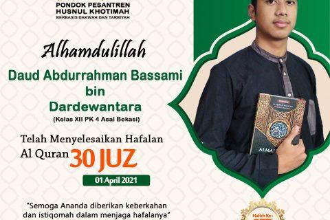 Daud Abdurrahman Bassami bin Dardewantara