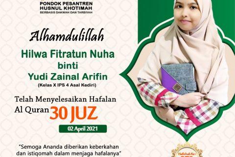 Hilwa Fitratun Nuha binti Yudi Zainal Arifin