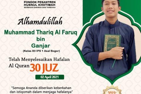 Muhammad Thariq Al Faruq bin Ganjar