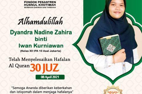 Dyandra Nadine Zahira binti Iwan Kurniawan