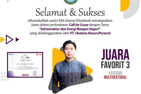 JUARA CALL FOR ESSAY PT. HUTAMA KARYA PERSERO