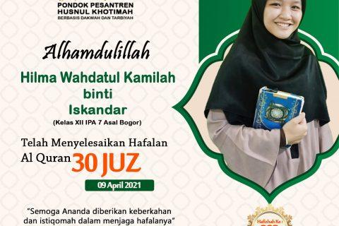 Hilma Wahdatul Kamilah binti Iskandar