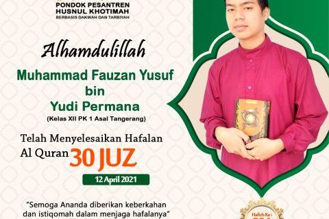 Muhammad Fauzan Yusuf bin Yudi Permana