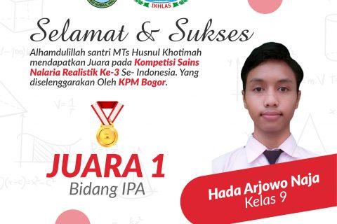 JUARA KOMPETISI SAINS NALARIA REALISTIK SE-INDONESIA