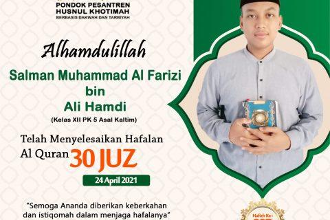 Salman Muhammad Al Farizi bin Ali Hamdi