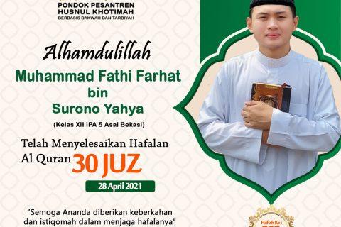 Muhammad Fathi Farhat bin Surono Yahya