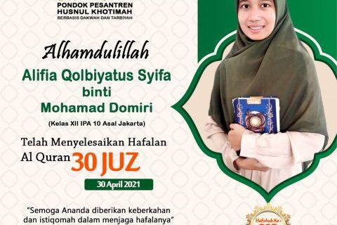 Alifia Qolbiyatus Syifa binti Mohamad Domiri