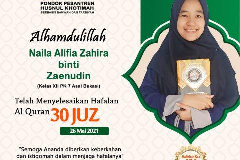Naila Alifia Zahira binti Zaenudin