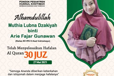 Muthia Lubna Dzakiyah binti Arie Fajar Gunawan