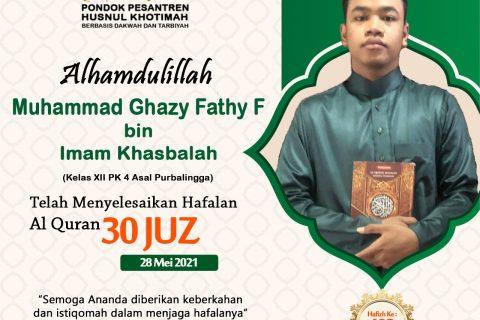 Muhammad Ghazy Fathy F bin Imam Khasbalah