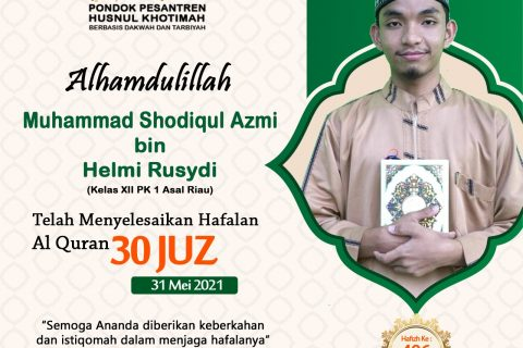 Muhammad Shodiqul Azmi bin Helmi Rusydi