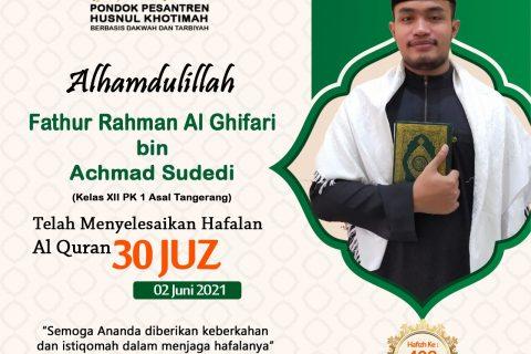 Fathur Rahman Al Ghifari bin Achmad Sudedi