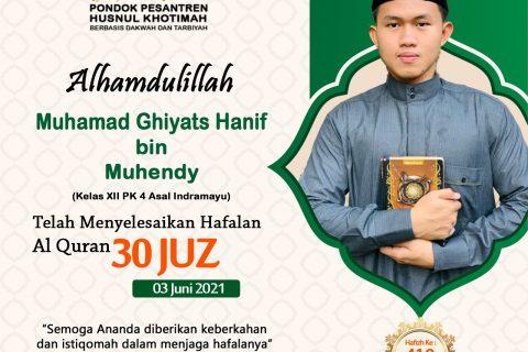 Muhamad Ghiyats Hanif bin Muhendy