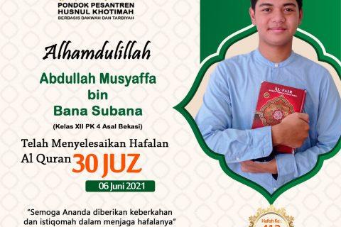 Abdullah Musyaffa bin Bana Subana