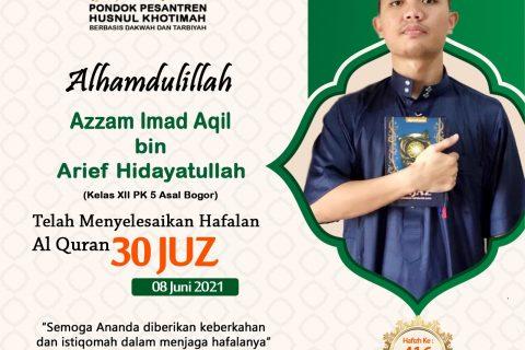 Azzam Imad Aqil bin Arief Hidayatullah