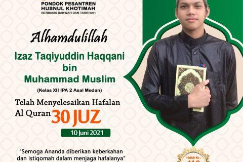 Izaz Taqiyuddin Haqqani bin Muhammad Muslim
